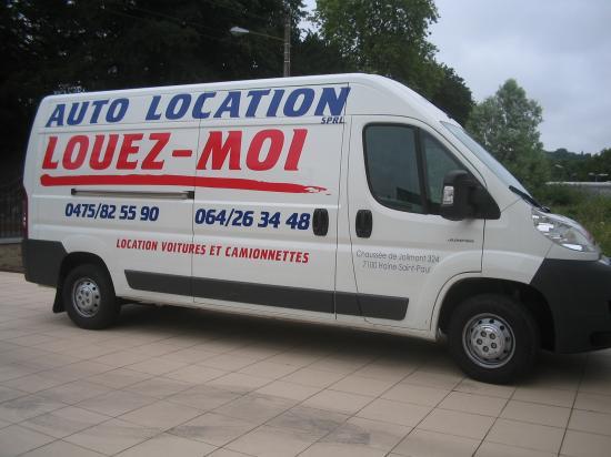 Location camionnette pas chère à La Louvière